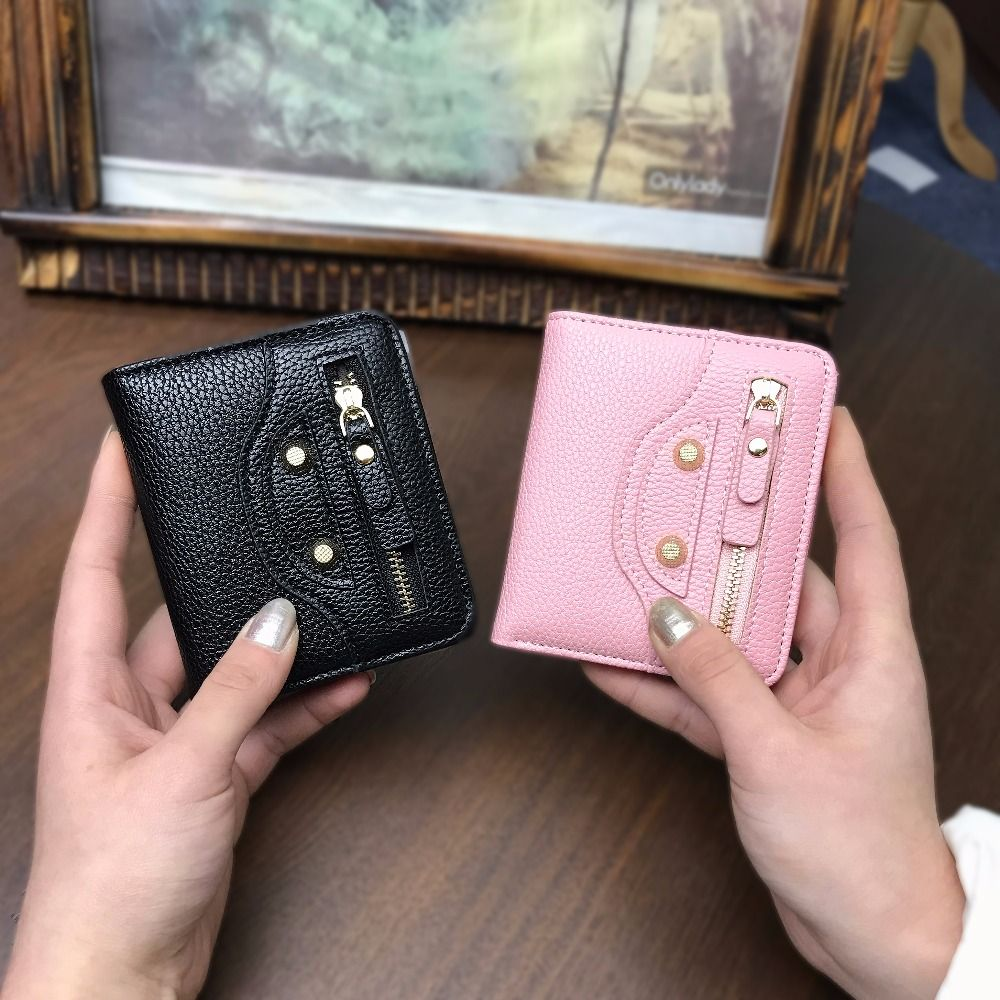 Women Small Coin Purse Lady Slim Cat Wallet Mini Female Thin Money Cash Pocket With Card Holder ladies purse Cute Wallet Girls