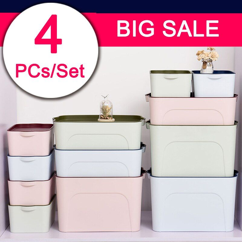 Thickened Storage box Large drawer Finishing box With a lid Plastic storage case receive box