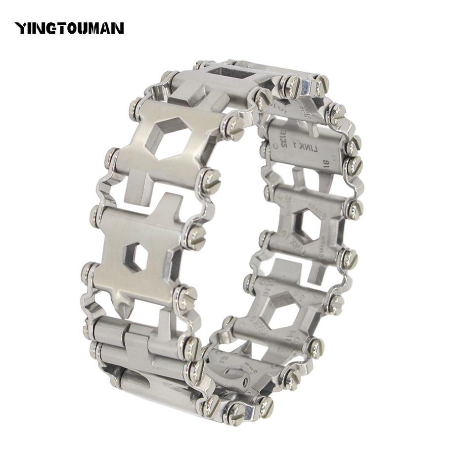 YINGTOUMAN Wearable Tread 29 In 1 Multi-function Bracelet Strap Multi-function Screwdriver Outdoor Emergency Kit Multi Tool