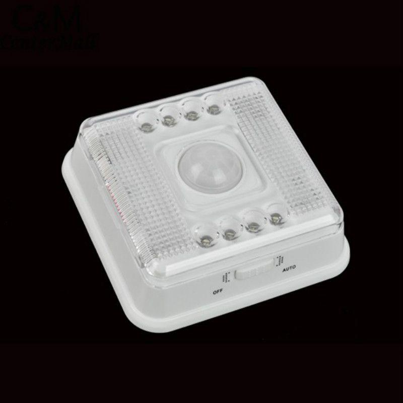 8 светодиодов движения Сенсор свет Беспроводной инфракрасный домашние открытый ПИР Авто Сенсор детектор движения ночь светодиодные лампы