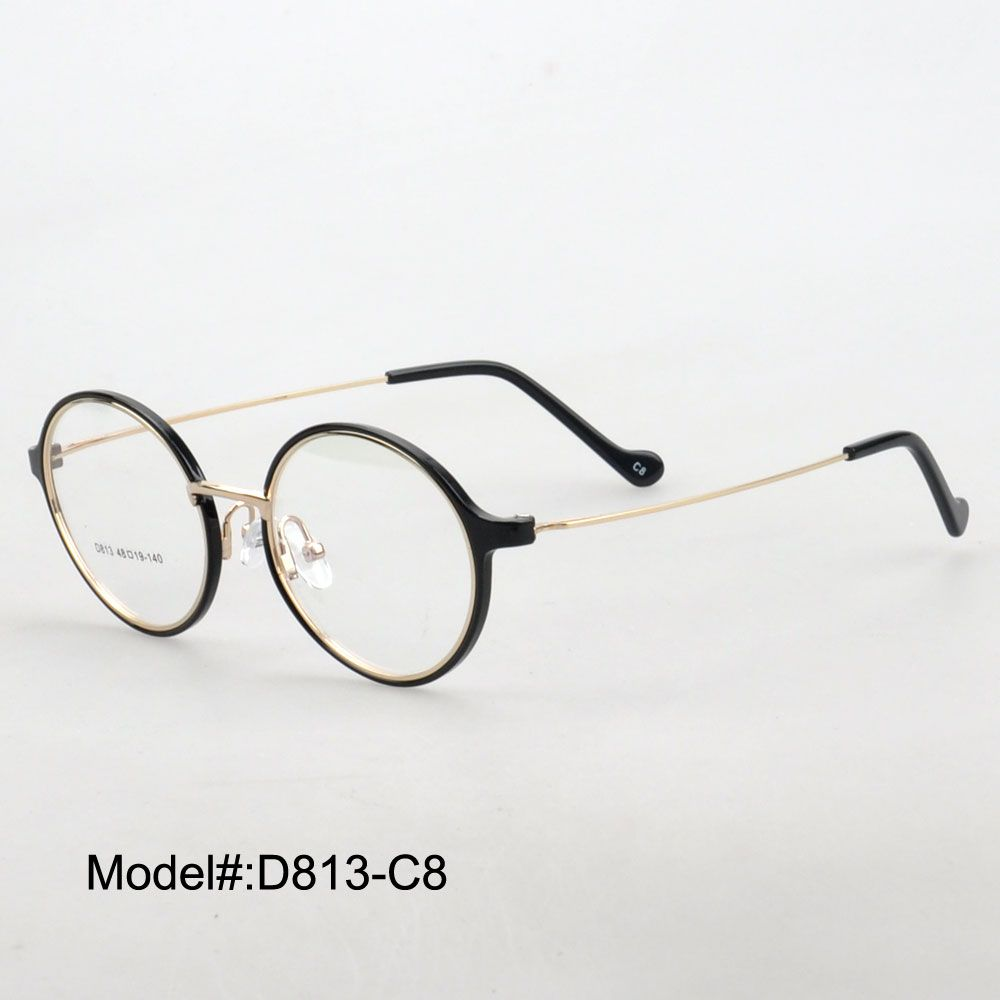 MY DOLI New D813 vintage full rim round TR myopia eyewear eyeglasses prescription spectacles with metal temple