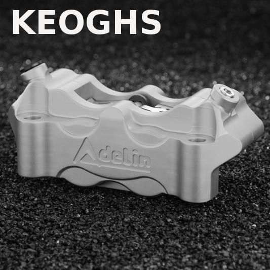 KEOGHS Adelin Motorcycle Front Brake Calipers Brake Pumb 108mm 4 Piston Cnc For Honda Yamaha Kawasaki Suzuki Ducati