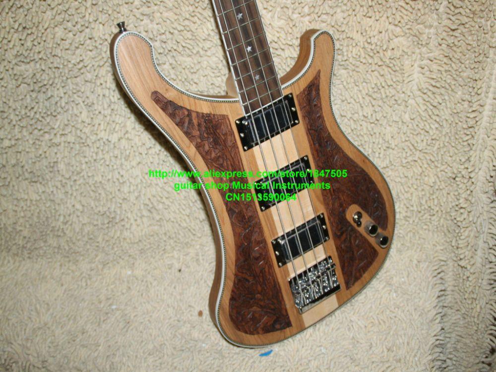 NEUE Benutzerdefinierte 4003 Bass 4 string Bass Gitarre holz Manuelle skulptur e-bass Kostenloser Versand