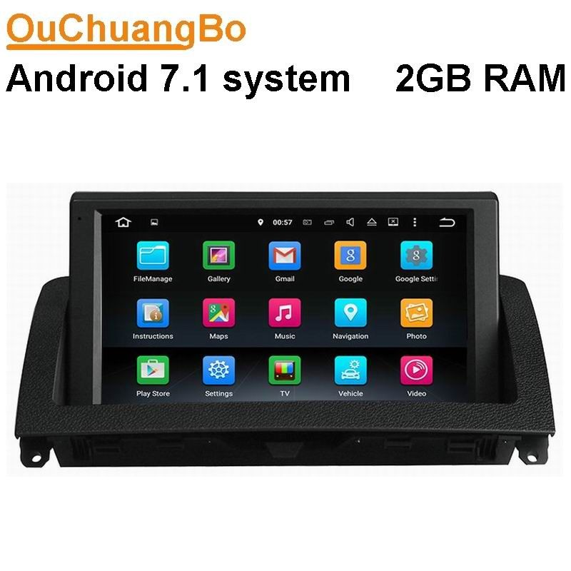 Ouchuangbo 8 inch android 7.1 car audio radio for Benz C W204 C200 C220 C300 2007-2011 with wifi gps navigation 2GB RAM