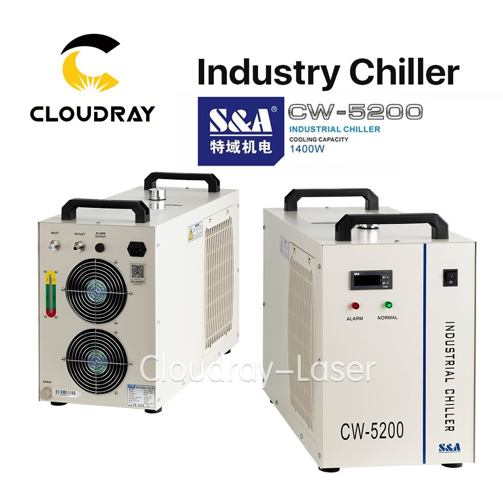 Cloudray S&A CW5200 CW5202 Industry Air Water Chiller for CO2 Laser Engraving Cutting Machine Cooling 150W Laser Tube