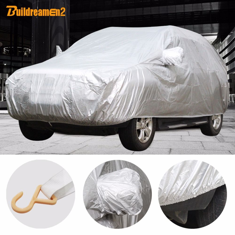 Buildreamen2 Universal Car Cover Sunshade Rain Snow Dust Frost Resistant Car-Cover UV-Anti Sun Dustproof