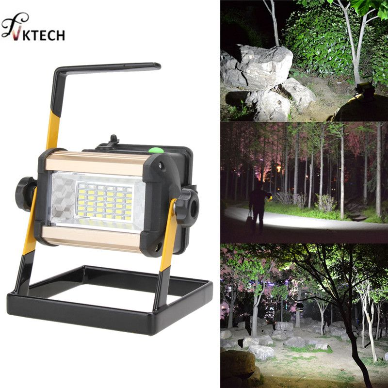 Rechargeable 50W 36LED LED Lamp Portable 2400LM Spotlight Flood Spot Work Light for Outdoor Camping Lamps With Charger