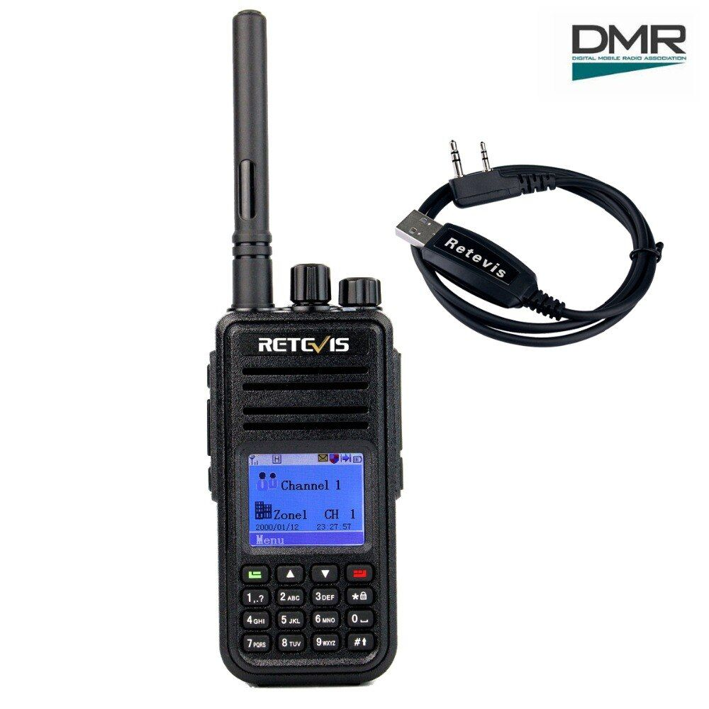 Retevis RT3 DMR Digital Radio (GPS) Walkie <font><b>Talkie</b></font> UHF (or VHF) 5W Encrypted 2 Way Radio Amador Hf Transceiver Ham Radio Station