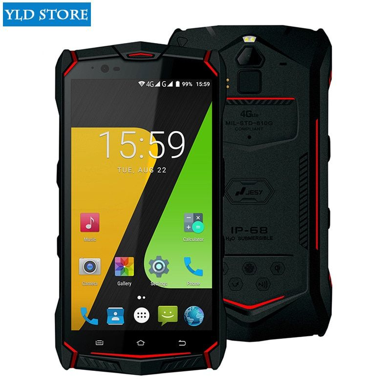 JESY J9s IP68 Waterproof rugged mobile phone Octa Core 4GB 64GB Smartphone 5.5 FHD NFC Android 7.0 Wireless Charge 6150mAh <font><b>cell</b></font>