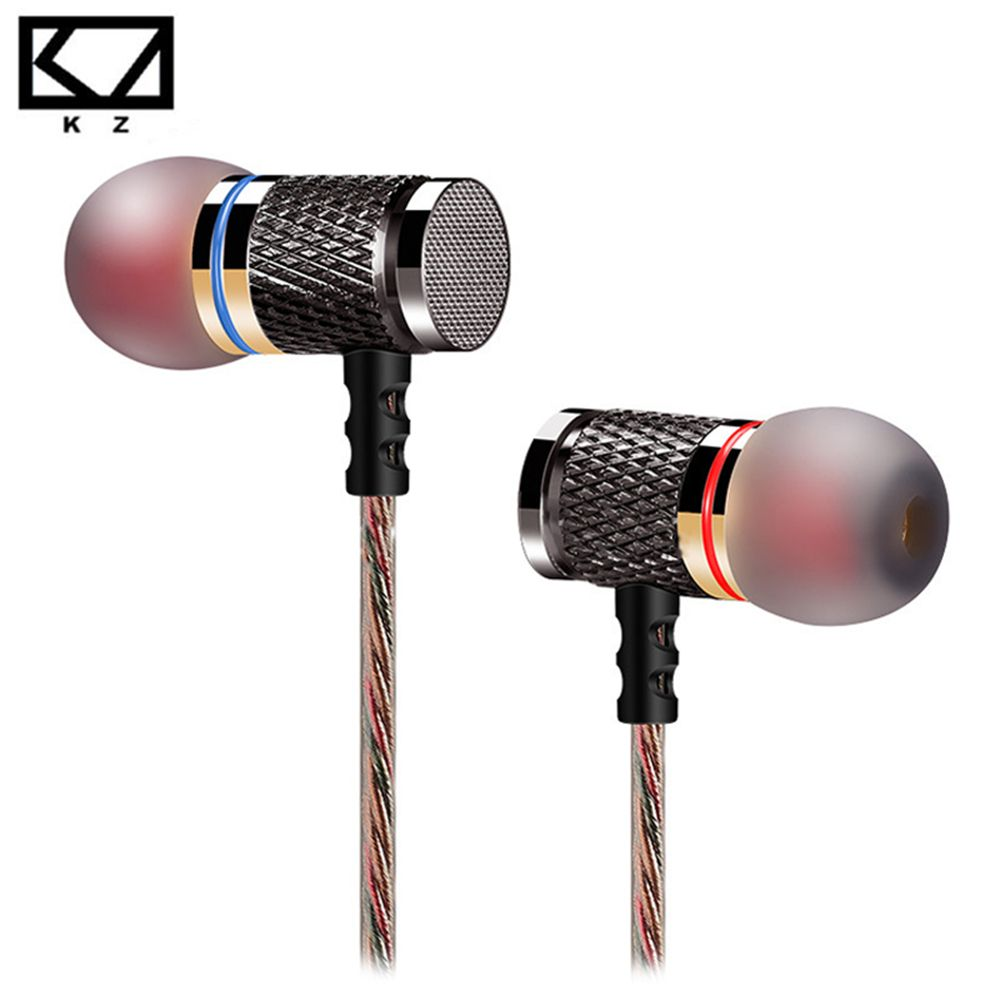 KZ-ED2 In-Ear Earphone enthusiast bass ear Headset copper forging 7MM shocking anti-noise microphone sound quality