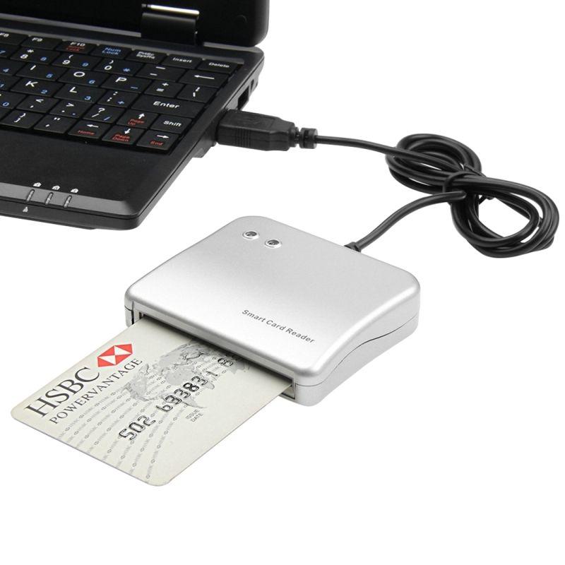 Haweel Pour MAC 10.7 Windows 7 Linux OS USB Smart Lecteur De Carte De Crédit À Puce À Puce Contact Carte IC Cartes Écrivain