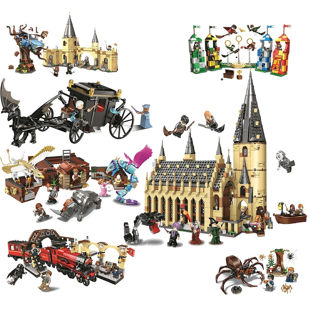 BELA 11003 11004 11005 11006 11007 11008 11009 Harry Hogwarts Blocks 75950 75956 75953 75955 75954 75951 75952 Toys For Children