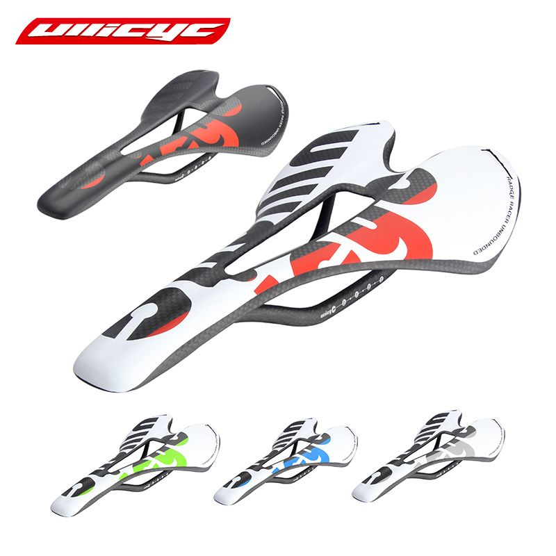 New Ullicyc 3K Full Carbon Fiber Bicycle Saddle Road/MTB Bike Carbon Saddle Seat Matte/Glossy colorful