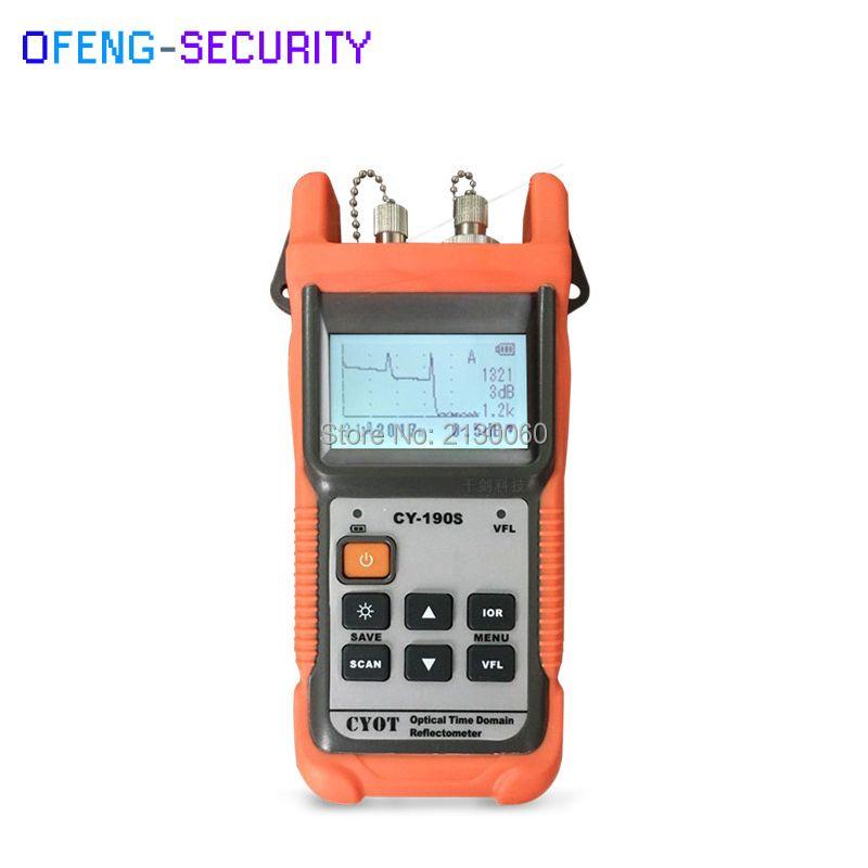 Handheld OTDR CY-190S Optical Time Domain Reflektometer, SM 60 km 1310nm + 1 mw VFL Fiber finden fehler tester 8dB/26dB