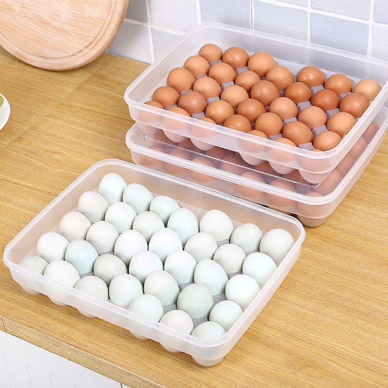 Пластиковые утки яйцо ящик для хранения в Японском стиле большая коробка кухня четкими холодильник яйцо коробка положил яйцо шельфа