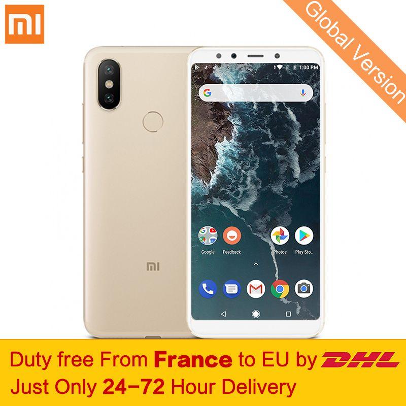 Free tax! Global Version Xiaomi Mi A2 4GB 32GB Mobile Phones Snapdragon 660 Octa Core 20MP AI Dual Camera 5.99