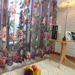 Бежевый фиолетовый оконная Тюль Роскошные Sheer шторы для кухня гостиная спальня дизайн оконные драпировки панель драпировки