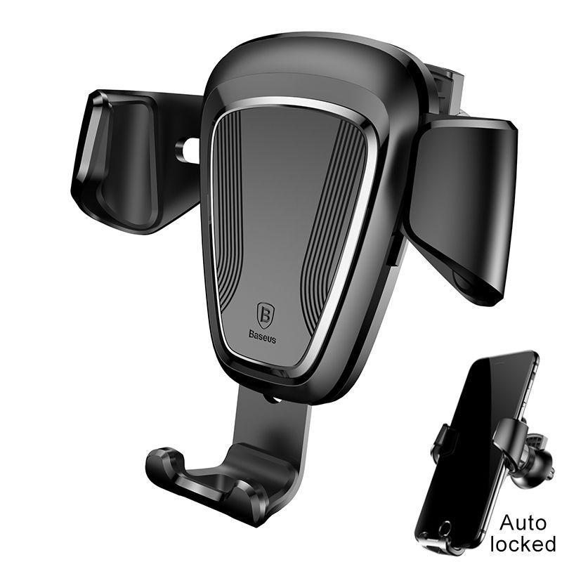 Baseus Autotelefon Inhaber Stehen Für iPhone X 8 7 6 5 s Samsung S8 Telefon Stehen Auto-lock Air Vent Halterung Auto Telefon stehen