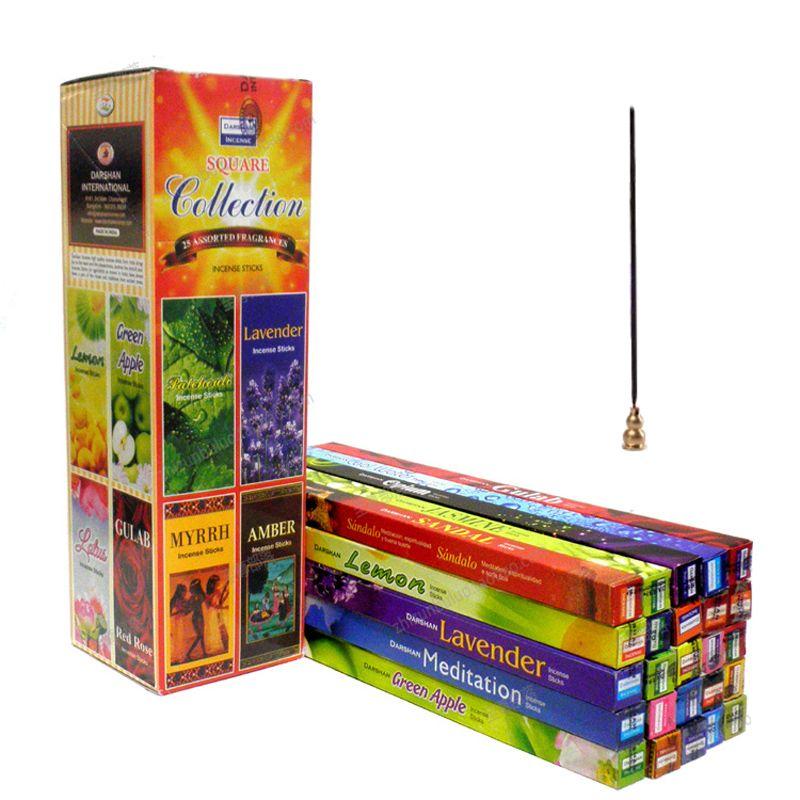 Encens tibétain 25 odeurs inde arôme bâton encens authentique naturel ménage intérieur garde-robe propre Air bâtons 7 pièces/boîte
