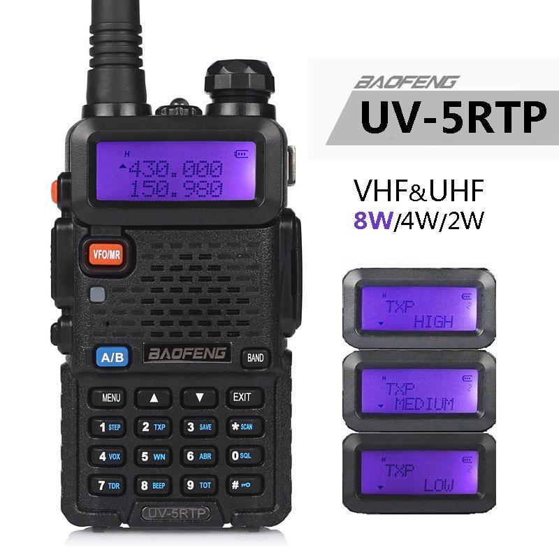 Baofeng UV-5R TP 8 W 4 W haute puissance VHF/UHF 136-174/400-520 MHz double bande FM véritable bidirectionnel Radio talkie-walkie/écouteur UV-5RTP