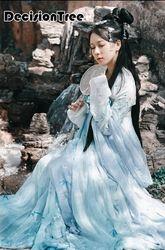 2019 Baru Kuno Cina Kostum Wanita Wanita Hanfu Gaun Cina Hanfu Cosplay Pakaian Tradisional Wanita Kuno