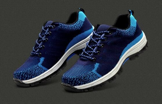 Anti smash shoes, breathable and deodorant woven fabric, safety shoes, protective shoes.