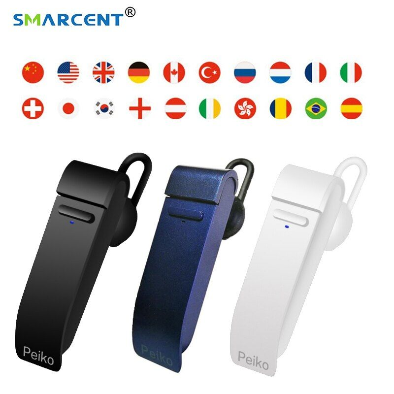 New Intelligent Multi-Language instant speech translator voice with Wireless bluetooth earphone traductor simultaneo for Meeting