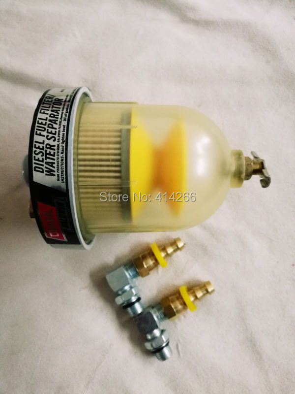 Diesel generator engine DAHL65-w30 fuel water separator filter with fittings +FREE SHIPPING