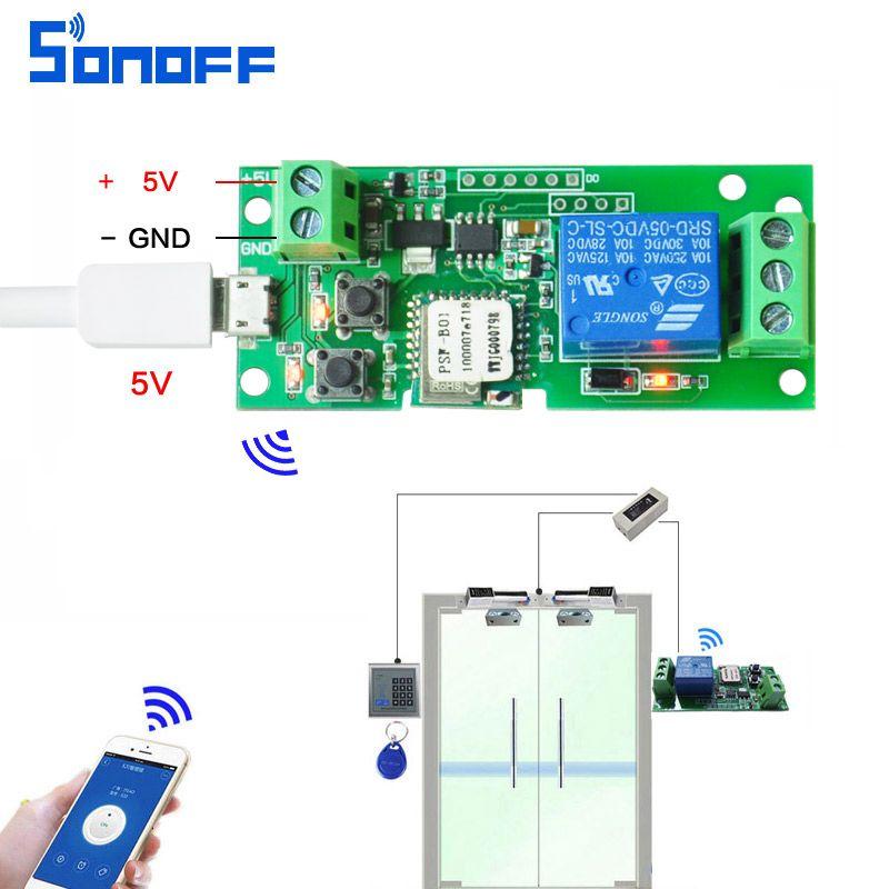Commutateur d'accès intelligent wifi 12 v 24 V 32 V Module de relais domotique intelligent DC5V jog/commutateur auto-bloquant téléphone app