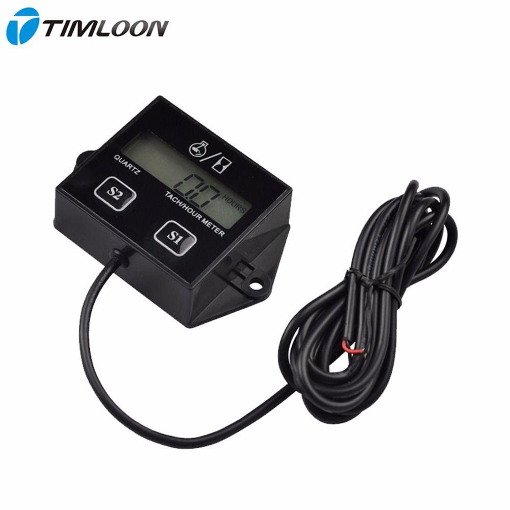 LCD Digital Rückstellbare RPM Drehzahlmesser Zähler Tacho Gauge Stunden Verwenden Für 2and4 2-takt-benzinmotor Marine Generator