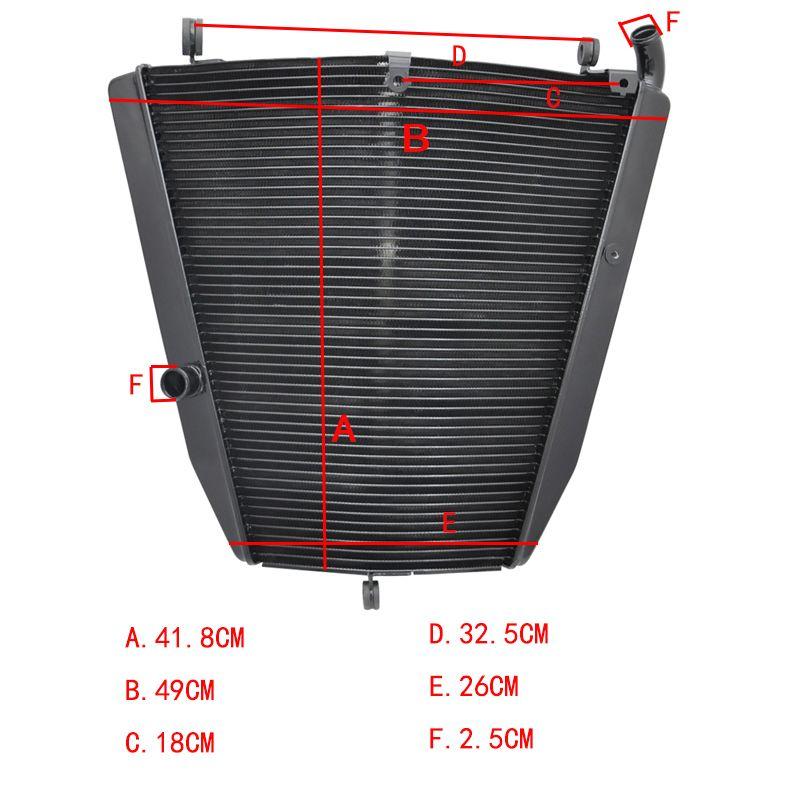 LOPOR Für Honda CBR1000RR 2004 2005 CBR1000 RR CBR 1000RR 04 05 Motorrad Aluminium Kühler Kühler NEUE