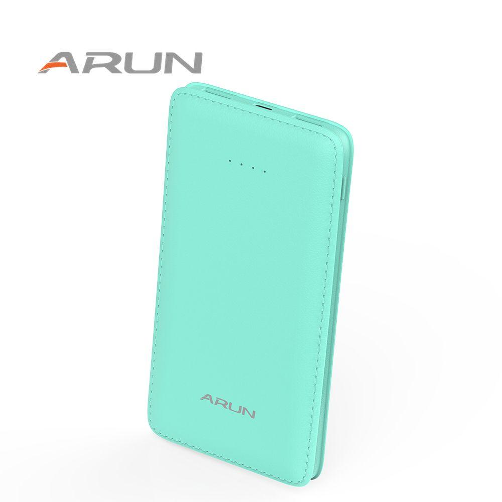 ARUN 10000 mah Bunte Handy Schnelle Ladegerät Dual USB Power Bank Mit Led-taschenlampe und Led-anzeige für iPhone Tablet Xiaomi HTC usw.