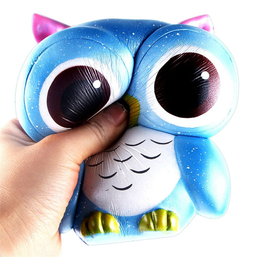 2017 # Antistress Elastic Environmentally PU Lovely Galaxy Owl Rising Squishes Toys