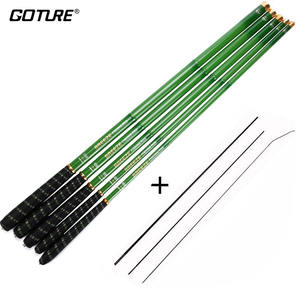 Goture Stream Fishing Rods 3.0m/3.6m/4.5m/5.4m/6.3m/7.2m Telescopic Fishing Rod Carbon Fiber Hand Pole for Carp Fishing, 1pc/lot