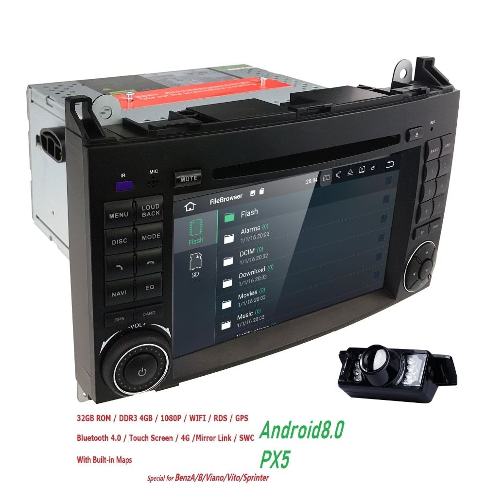 OctaCore PX5 Car DVD player 4G+32G Android8.0 For Benz Sprinter W169 W245 W906 Viano Vito W639 B200 with GPS Navigation Radio