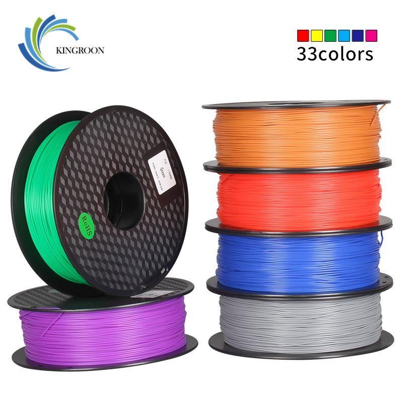 Matériaux d'impression du Filament 1 KG de PLA 1.75mm colorés pour le stylo d'extrudeuse d'imprimante 3D accessoires en plastique d'arc-en-ciel noir blanc rouge gris