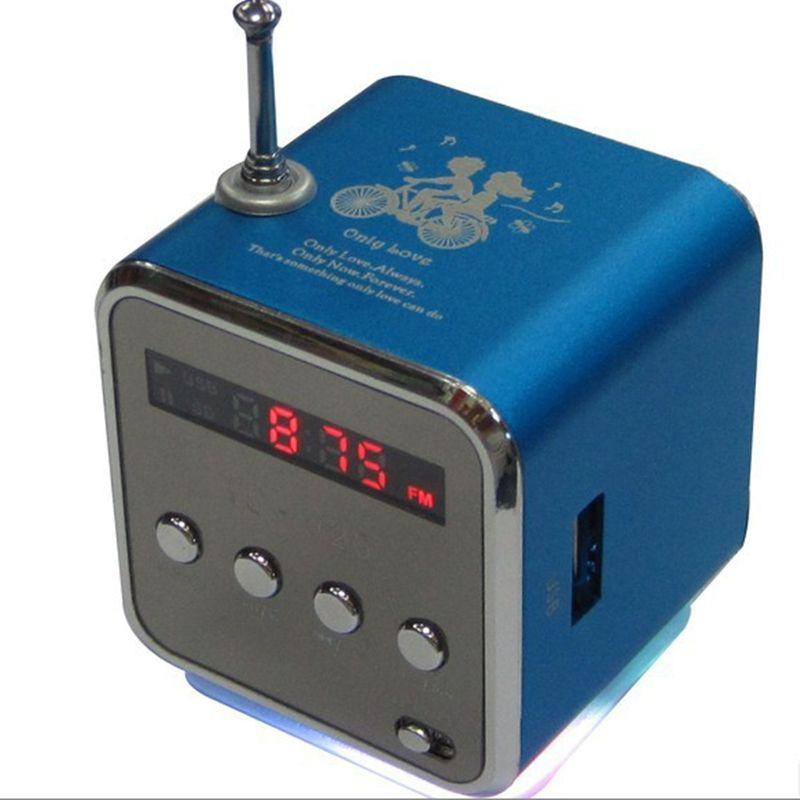 Radio FM numérique Micro carte SD/TF radio linternet numérique Radio fm portable Mini haut-parleur multifonction en aluminium radio RADV26