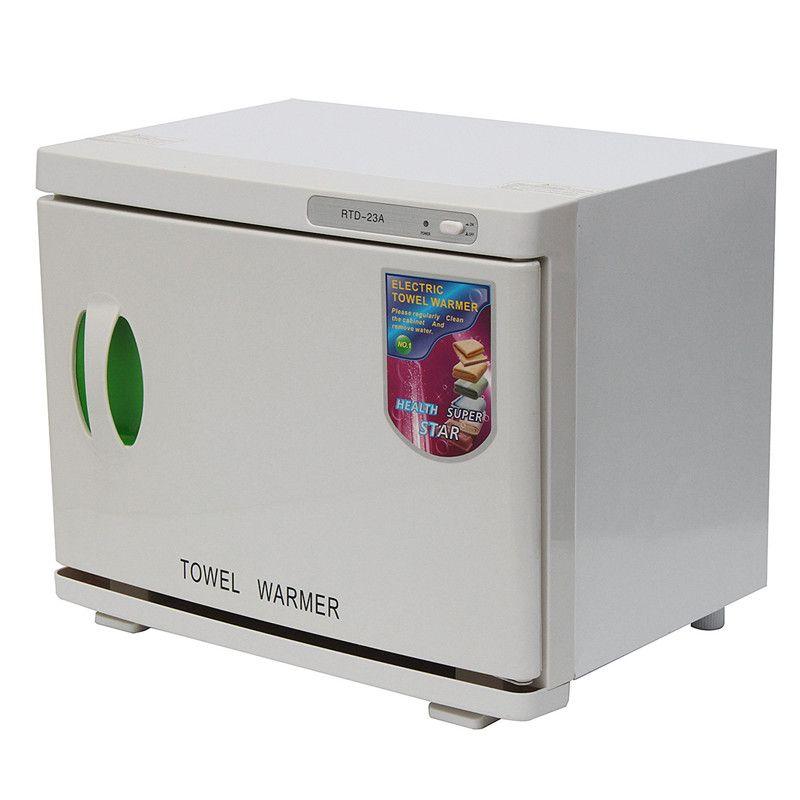 UV Sterilizer 23L 100-240V/AC Cabinet Hot Facial Towel Warmer Disinfection Beauty Salon Spa Heating Sterilizer Storage Towel