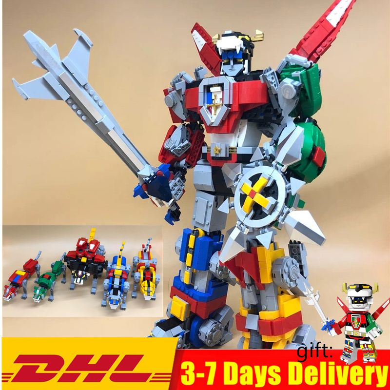 In Stock Defender of the Universe Voltroned Building Blocks Sets Kits Bricks Movie Kids Toy Marvel Compatible Legoings 21311