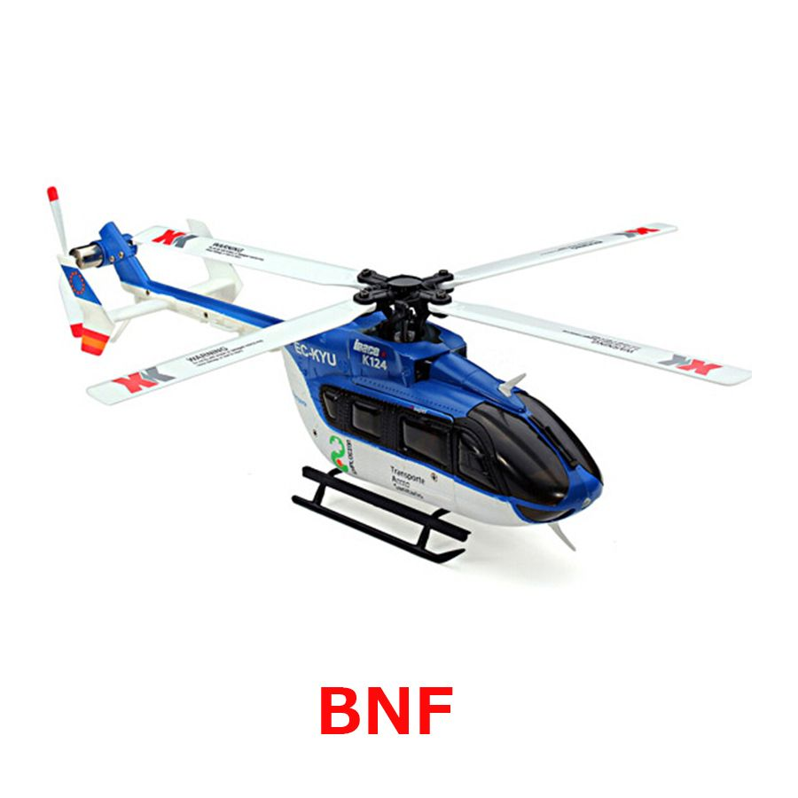 Original XK K124 BNF Without tranmitter EC145 6CH Brushless motor 3D 6G System RC Helicopter Compatible with FUTABA S-FHSS