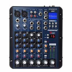 Freeboss SMR6 bluetooth запись 2 моно + 2 стерео 6 Каналы 3-полосный эквалайзер 16 DSP эффект USB профессиональное аудио смеситель