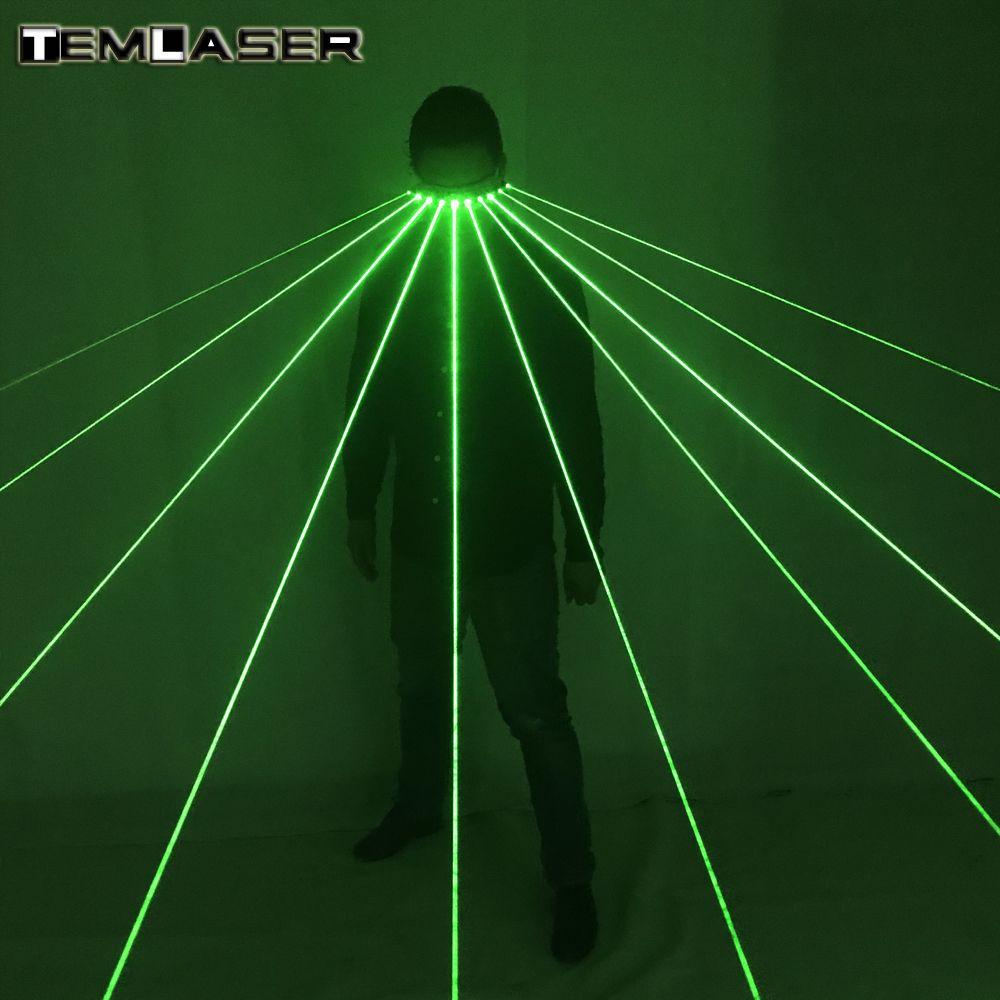 Freies verschiffen 532nm Grünen Laser Gläser Für Pub Club DJ Zeigt Mit 10 Stücke Green Laser LED Bühne Gläser