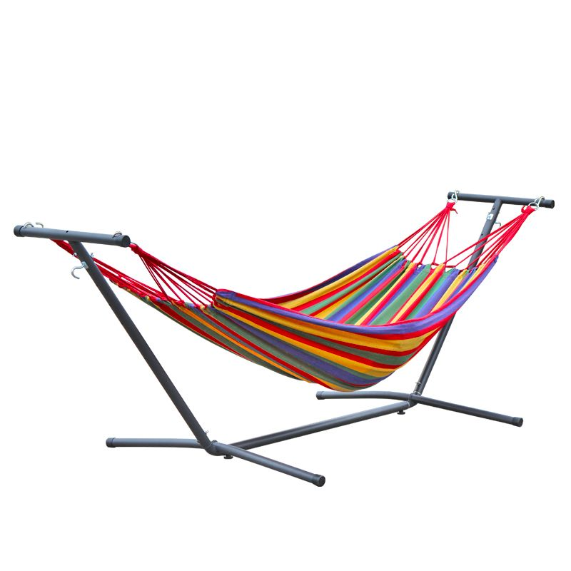 Double-head Indoor Balcony Swing Removable Enlarge Widen Canvas Hanging Chair Anti-rollover Hammock Chair metal shelf holder
