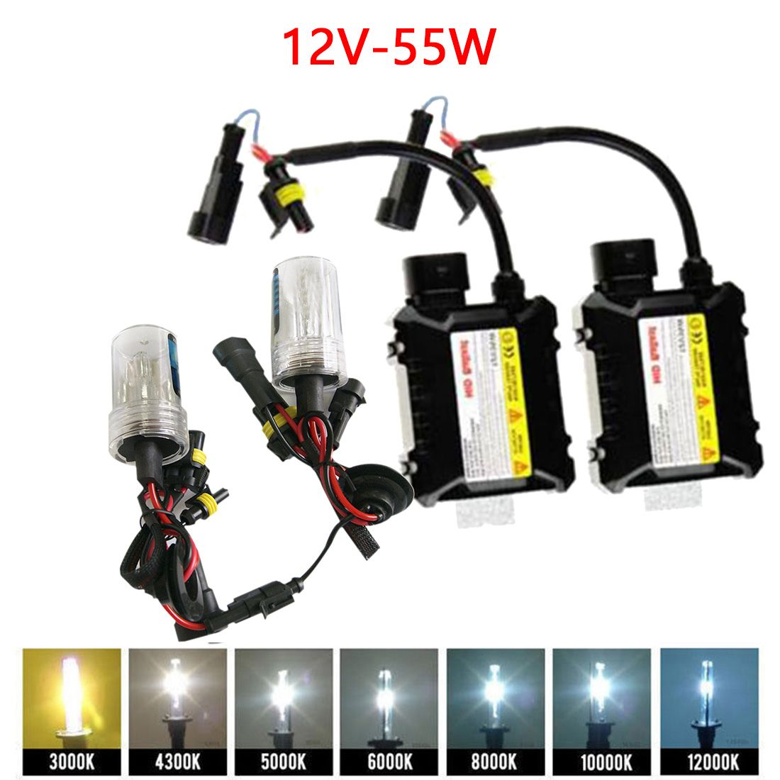 Tonewan New H7 Xenon HID Kit 55W H1 H3 H4 H8 H9 H11 9005 HB3 9006 HB4 881 H27 lamp for car headlight car styling xenon H7
