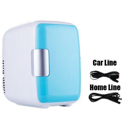 4L 220 V/12 V voiture électrique réfrigérateur à domicile réfrigérateur voiture/maison Mini double usage Cool plus chaud dortoir canettes bière refroidisseur