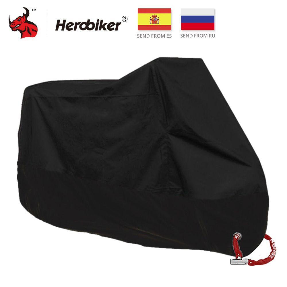 HEROBIKER Motorcycle Cover All Season Waterproof Dustproof UV Protective Outdoor <font><b>Indoor</b></font> Lock-holes Design Motorbike Rain Cover
