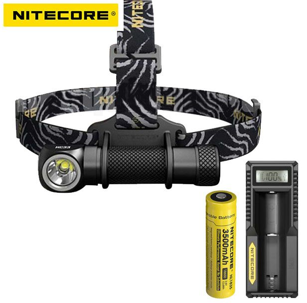 Nitecore HC33 CREE XHP35 High Performance LED Headlamp +nitecore 18650 battery +nitecore UM10 charger