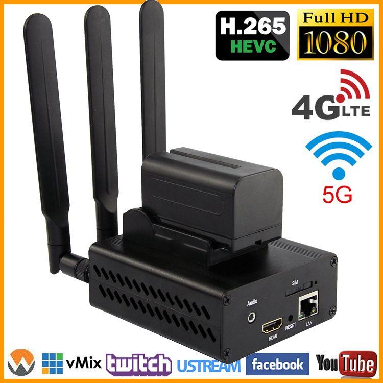 HEVC H.265/H.264 3G/4G LTE 1080P HD HDMI encodeur vidéo émetteur HDMI encodeur de diffusion en direct sans fil H264 IPTV encodeur WIFI