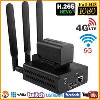 HEVC H.265/H.264 3g/4G LTE 1080P HD HDMI видео кодек передатчик HDMI Live широковещательный кодер беспроводной H264 кодирующее устройство телевидения по протокол...