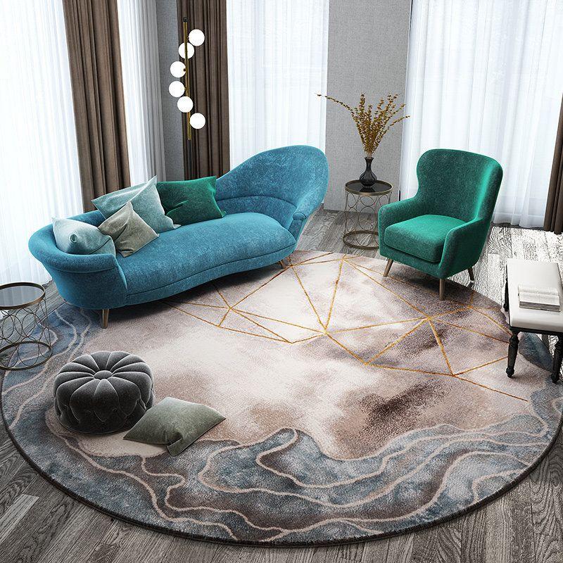 Nordic Teppiche Für Wohnzimmer Haus Dekorative Runde Teppich Schlafzimmer Sofa Kaffee Tisch Runden Teppich Moderne Studie Zimmer Boden Matte